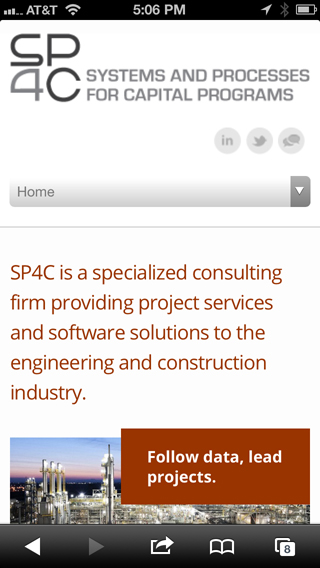 SP4C. Engineering website for project data integration.
